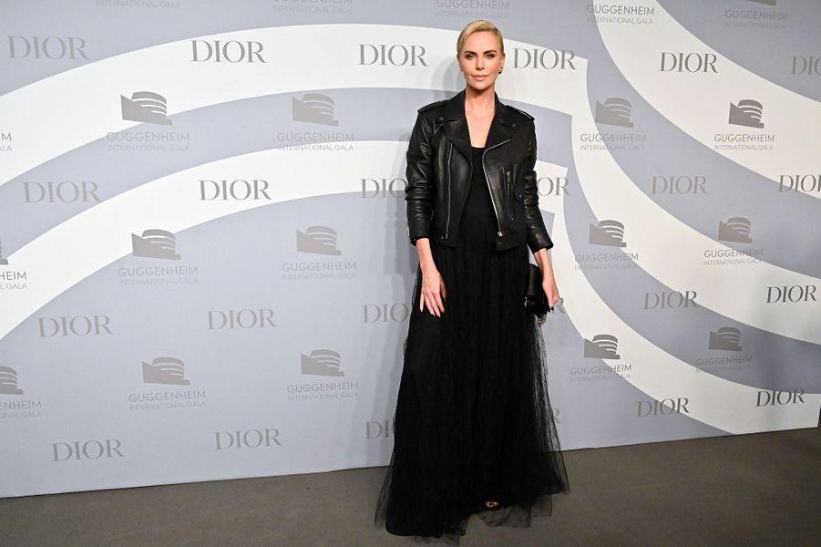 Charlize Theronlors du gala international duGuggenheim le 14 novembre 2019 à New York.