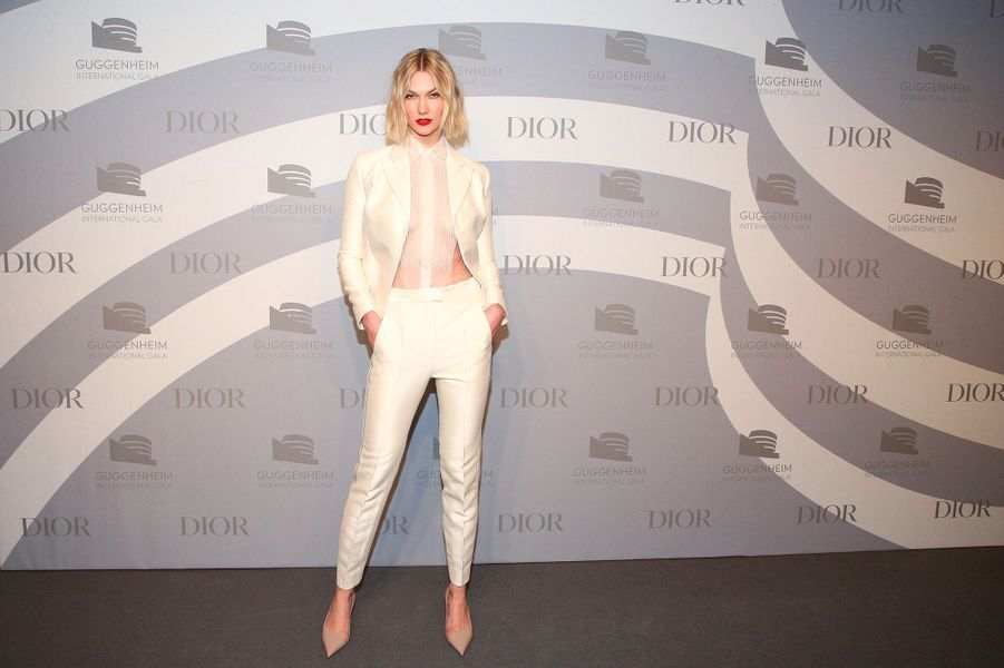 Karlie Klosslors du gala international duGuggenheim le 14 novembre 2019 à New York.