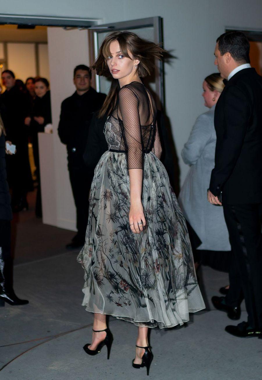 Maya Hawkelors du gala international duGuggenheim le 14 novembre 2019 à New York.
