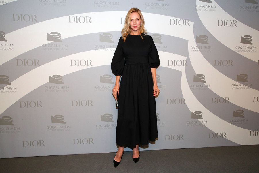 Uma Thurmanlors du gala international duGuggenheim le 14 novembre 2019 à New York.