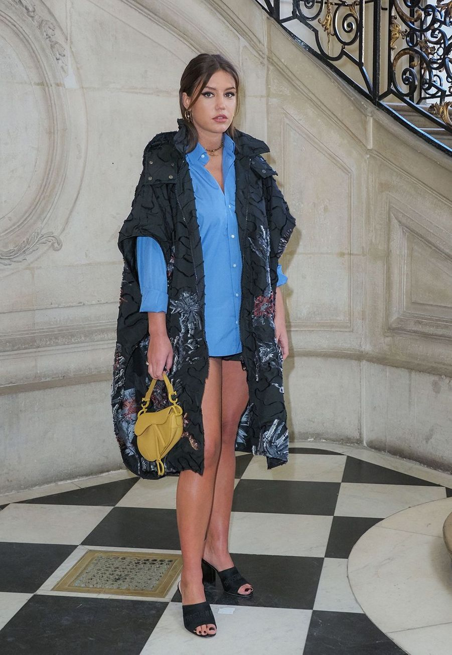 Adèle Exarchopouloslors du défilé DiorHaute Couture printemps-été 2020, qui a eu lieu au Musée Rodin lundi 20 janvier 2020.