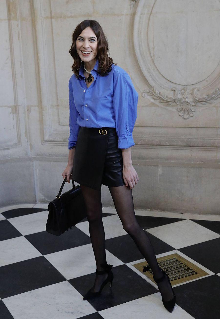 Alexa Chunglors du défilé DiorHaute Couture printemps-été 2020, qui a eu lieu au Musée Rodin lundi 20 janvier 2020.