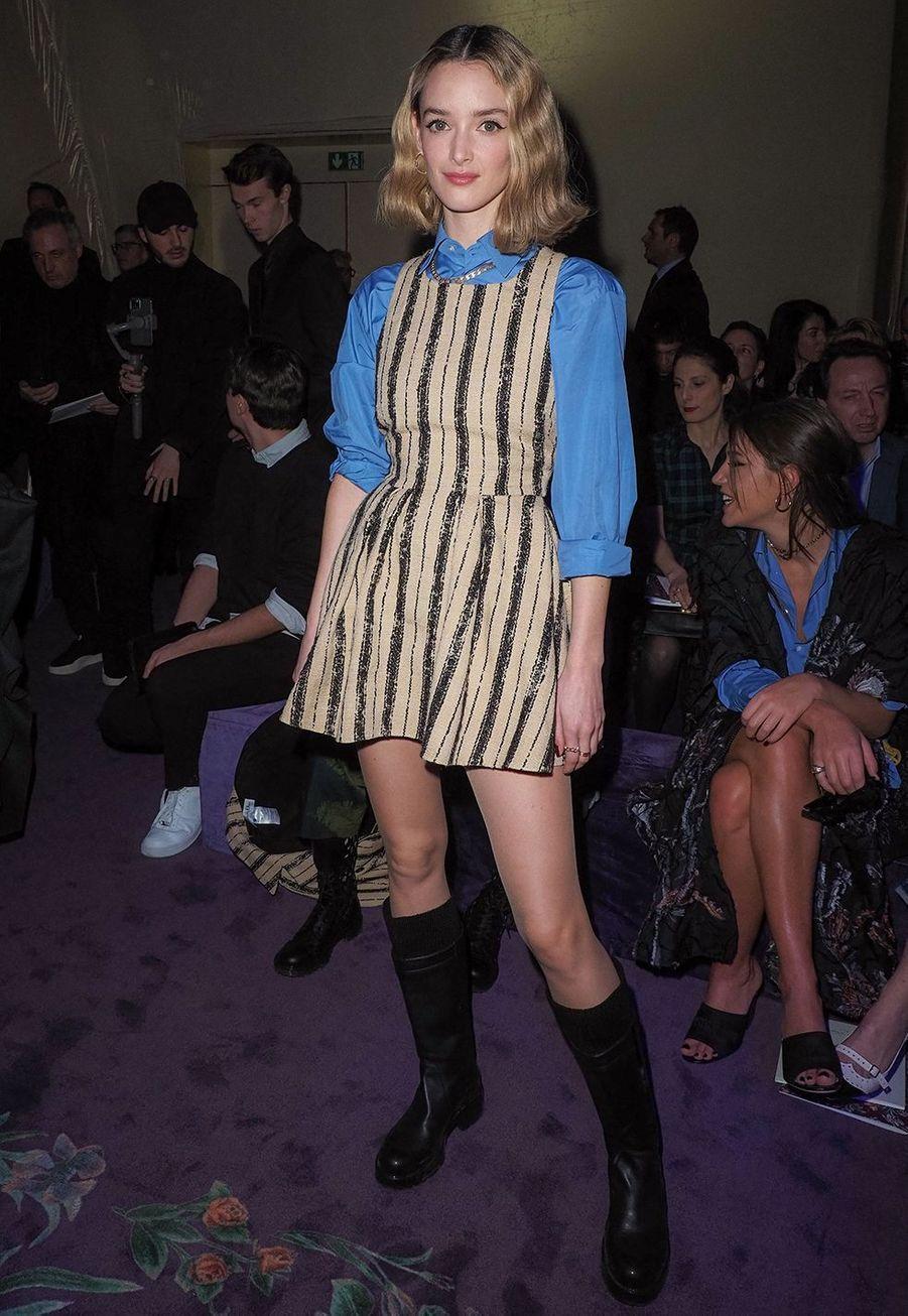 Charlotte Le Bonlors du défilé DiorHaute Couture printemps-été 2020, qui a eu lieu au Musée Rodin lundi 20 janvier 2020.