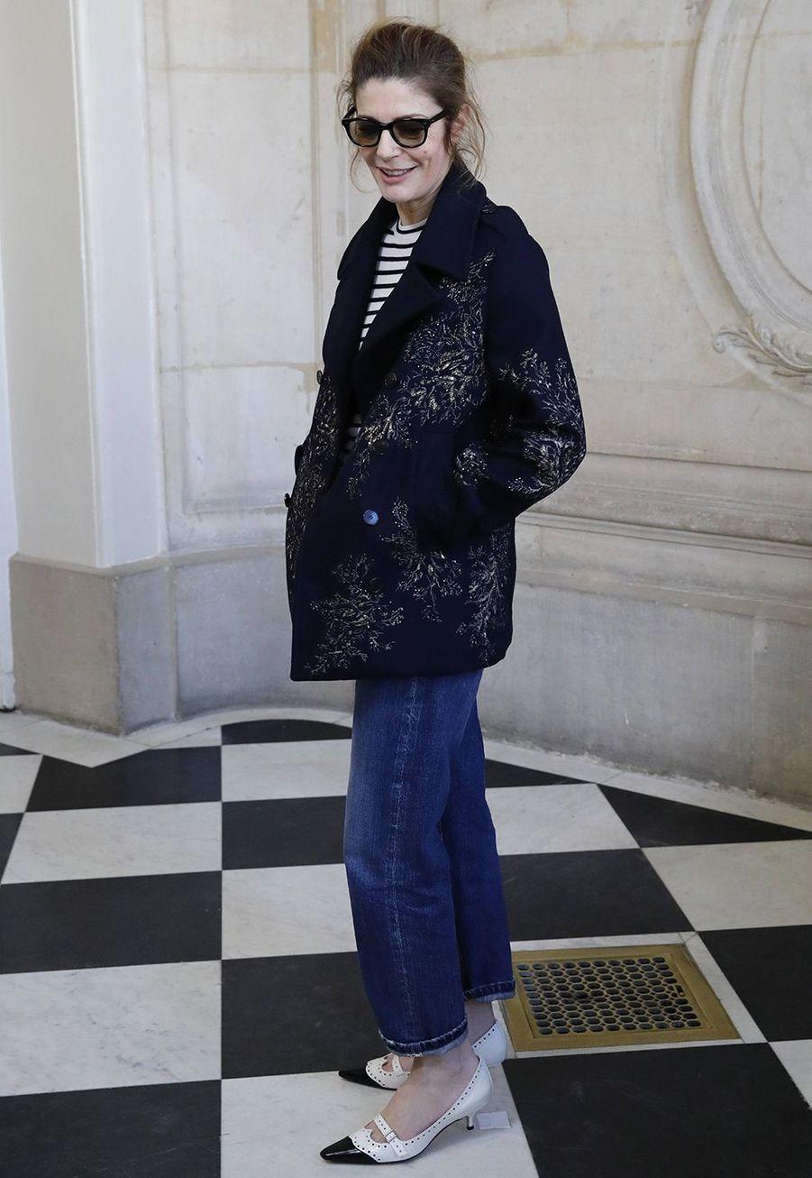 Chiara Mastroiannilors du défilé DiorHaute Couture printemps-été 2020, qui a eu lieu au Musée Rodin lundi 20 janvier 2020.