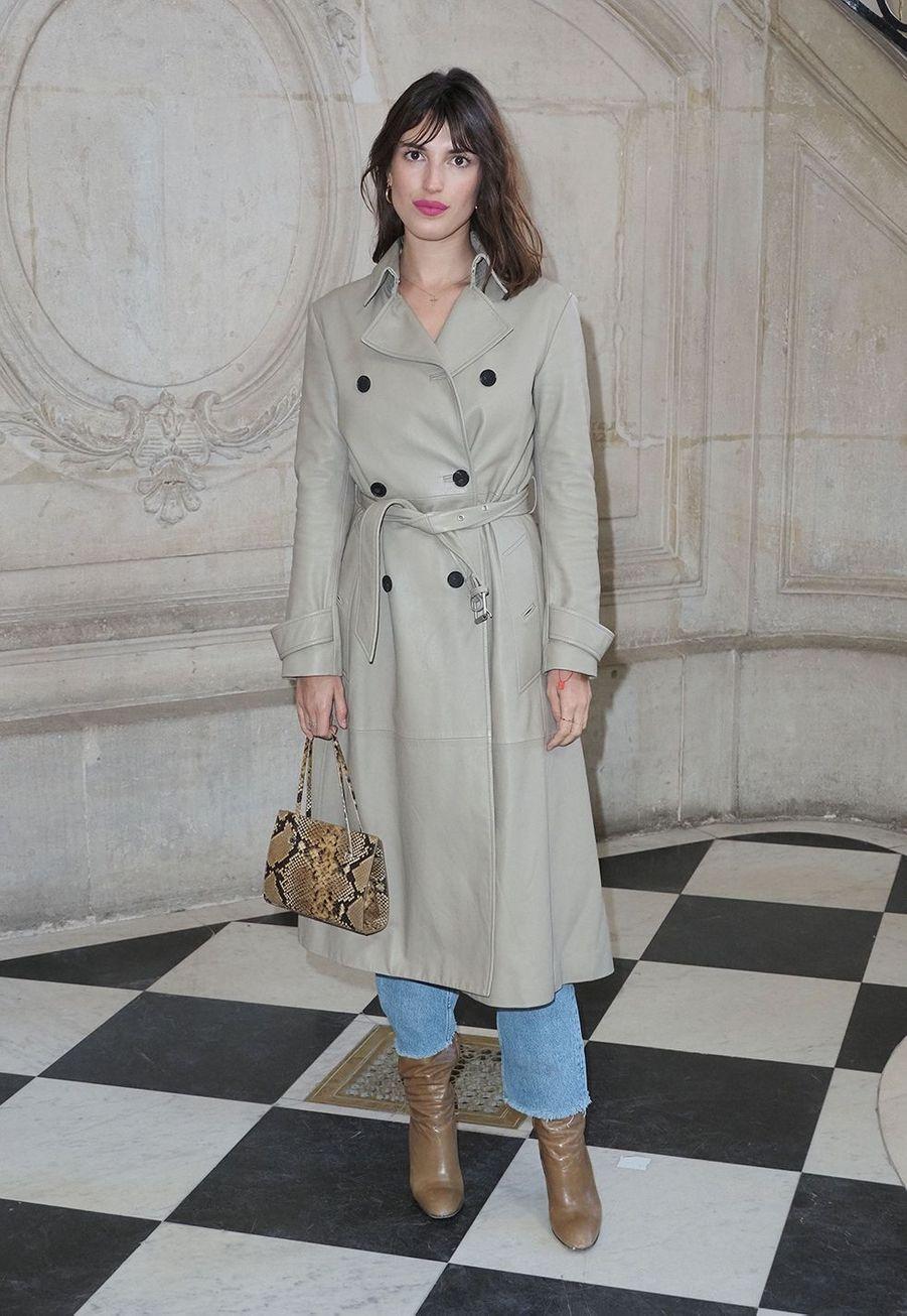 Jeanne Damaslors du défilé DiorHaute Couture printemps-été 2020, qui a eu lieu au Musée Rodin lundi 20 janvier 2020.