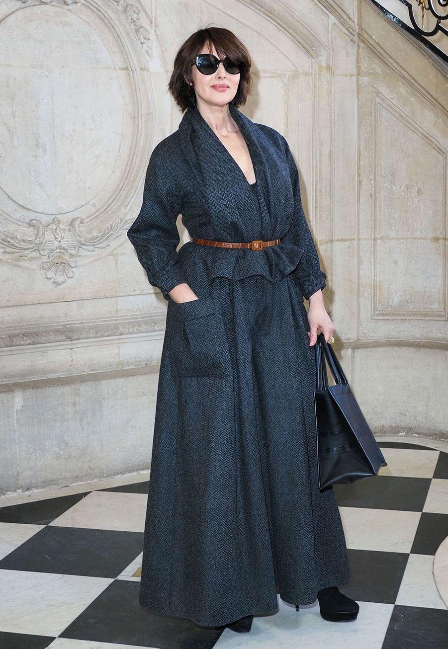 Monica Belluccilors du défilé DiorHaute Couture printemps-été 2020, qui a eu lieu au Musée Rodin lundi 20 janvier 2020.