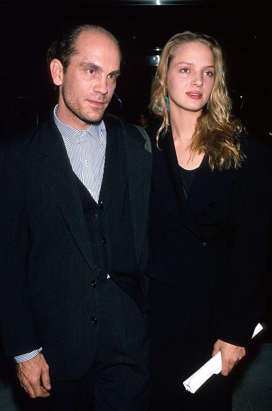 Uma Thurman avec John Malkovich, son partenaire des «Liaisons dangereuses», en 1988