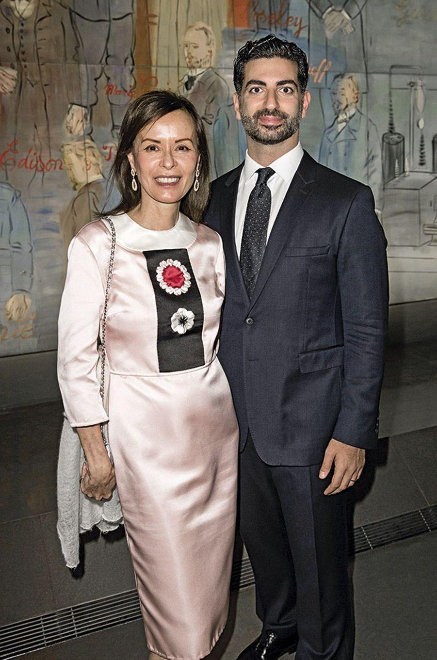 Almine Rech-Picasso et Fahd Hariri.