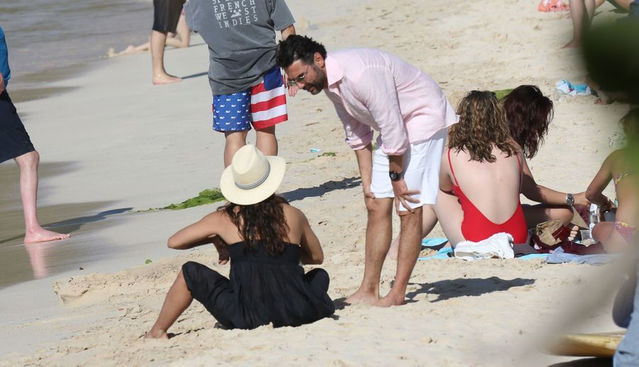Eva Longoria, son mari José Baston et leur fils Santiago sur l'île de Saint-Barthélémy, le 21 avril 2019