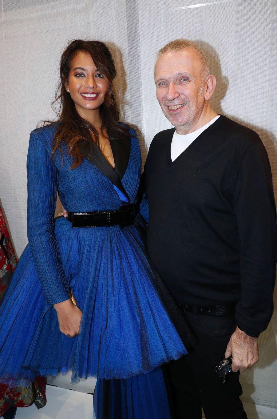 Vaimalama Chaves et Jean-Paul Gaultier