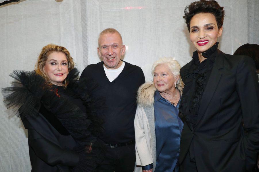 Catherine Deneuve, Jean-Paul Gaultier, Line Renaud et Farida Khelfa