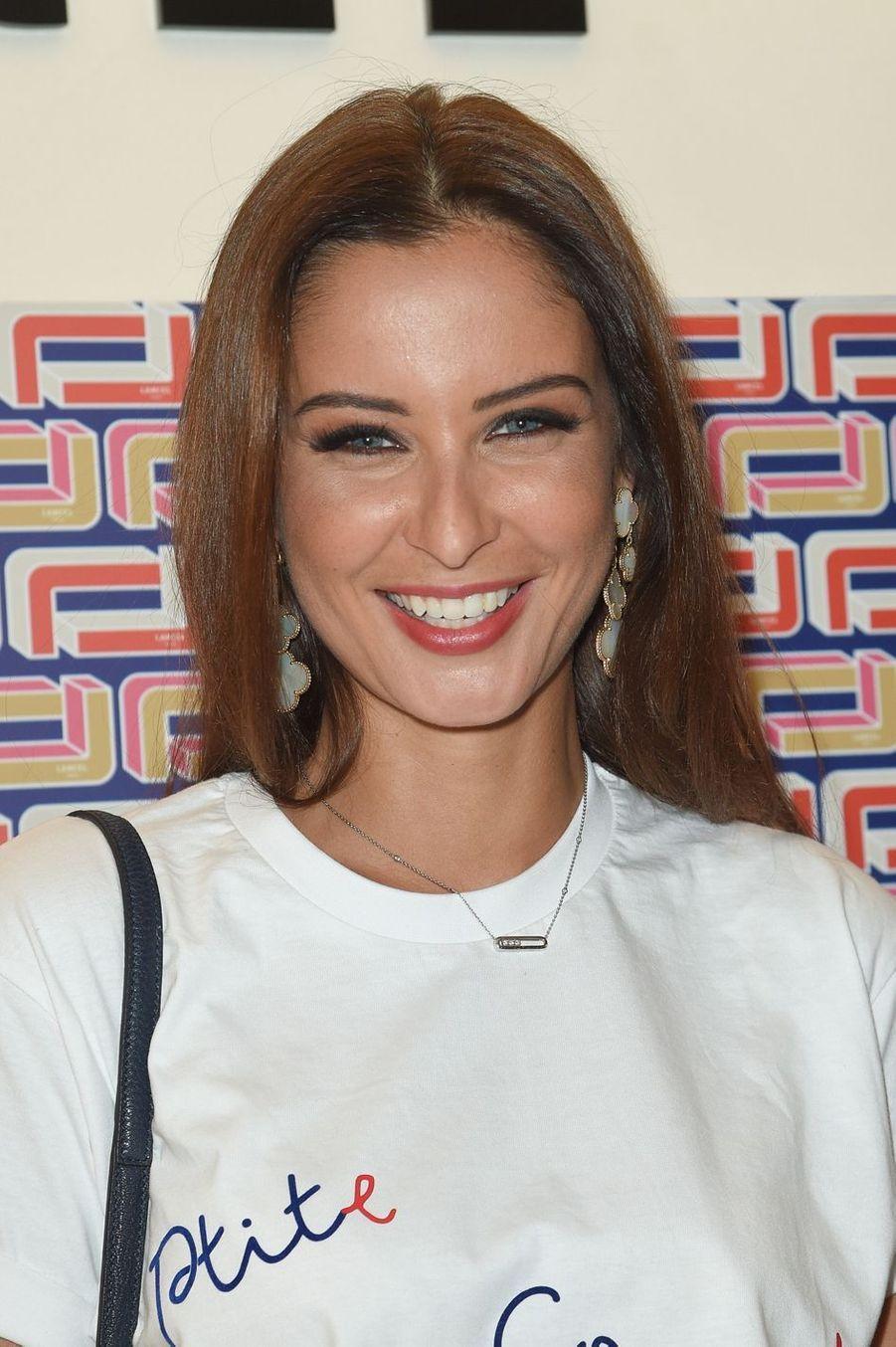 Malika Ménardà la présentation Lancel lors de la Fashion Week de Paris le 27 février 2019