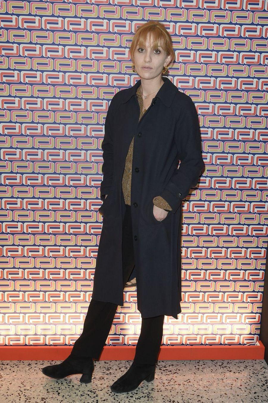Lolita Chammahà la présentation Lancel lors de la Fashion Week de Paris le 27 février 2019