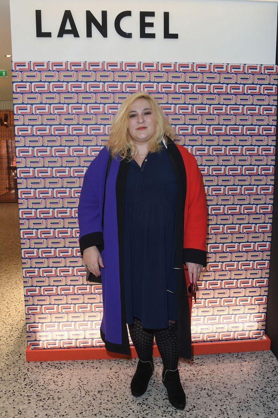 Marilou Berry à la présentation Lancel lors de la Fashion Week de Paris le 27 février 2019