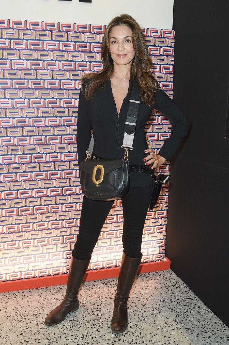 Nadia Farès à la présentation Lancel lors de la Fashion Week de Paris le 27 février 2019