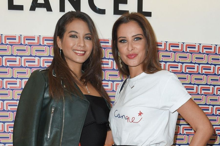 Vaimalama Chaves et Malika Ménard à la présentation Lancel lors de la Fashion Week de Paris le 27 février 2019