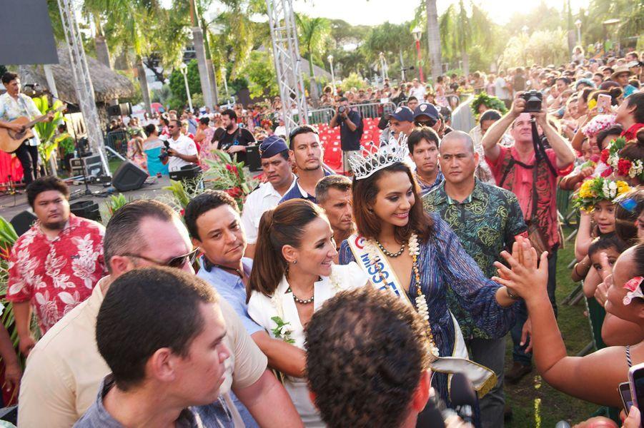 Vaimalama Chaves rentre à Tahiti après son sacre le 22 décembre 2018.