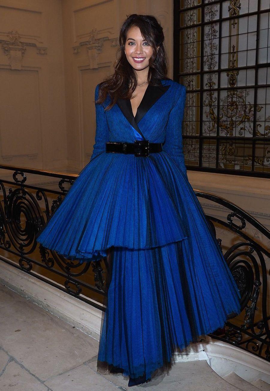 Vaimalama Chaves assiste au défilé printemps-été haute couture Jean Paul Gaultier lorsde la fashion week de Paris le 23 janvier 2019.