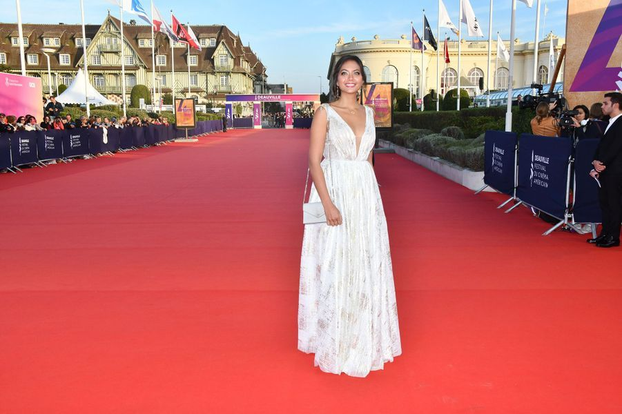 Vaimalama Chaves sur le tapis rouge du Festival du Cinéma Américain de Deauville le 10 septembre 2019.