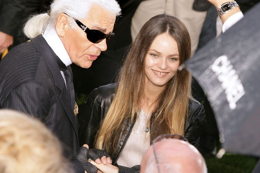 Vanessa Paradis et Karl Lagerfeld en 2007