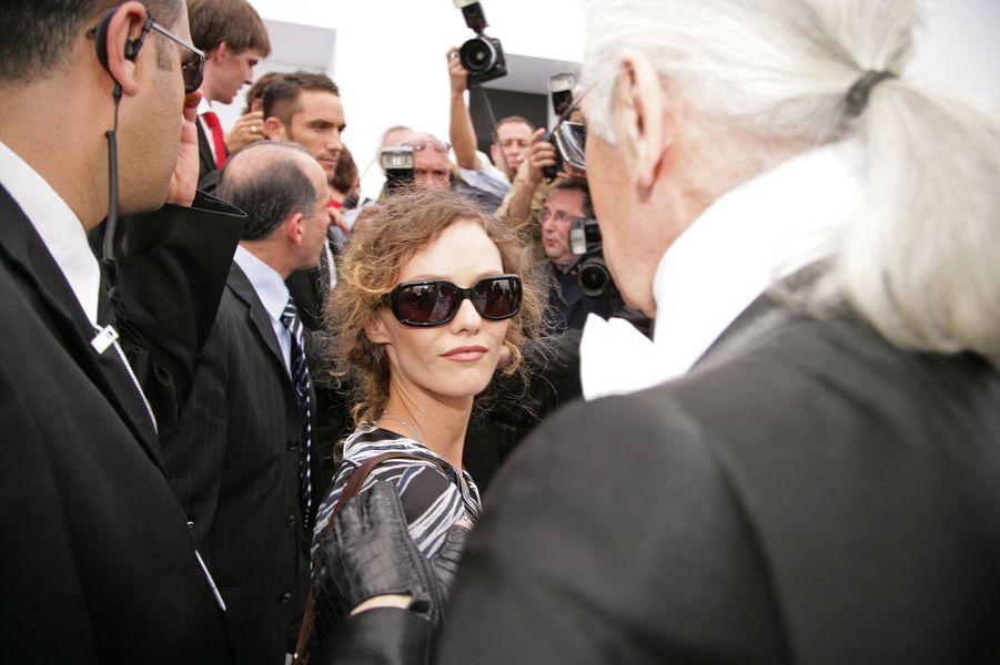 Vanessa Paradis et Karl Lagerfeld en 2006