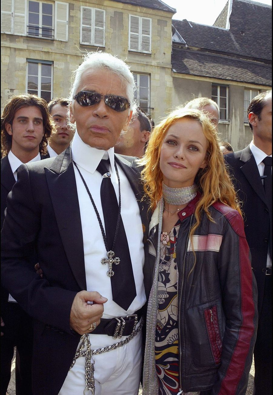 Vanessa Paradis et Karl Lagerfeld en 2003