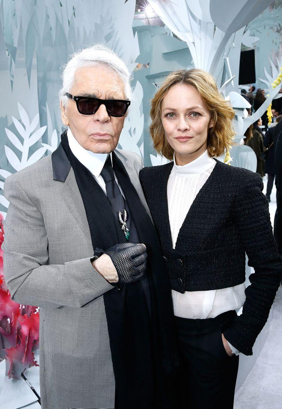 Vanessa Paradis et Karl Lagerfeld en 2015