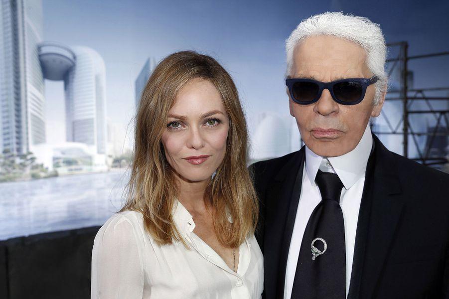 Vanessa Paradis et Karl Lagerfeld en 2013