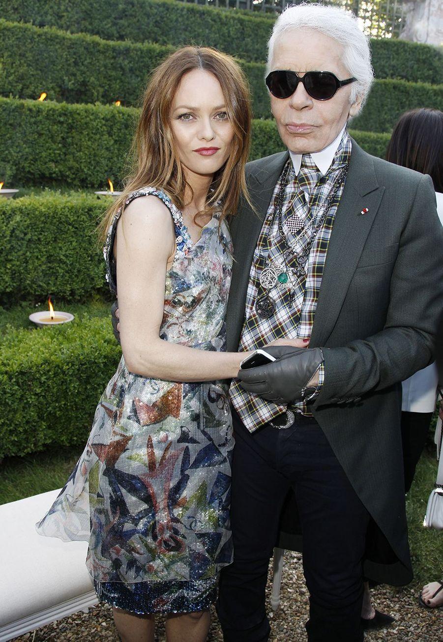 Vanessa Paradis et Karl Lagerfeld en 2012