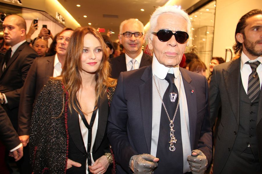 Vanessa Paradis et Karl Lagerfeld en 2011