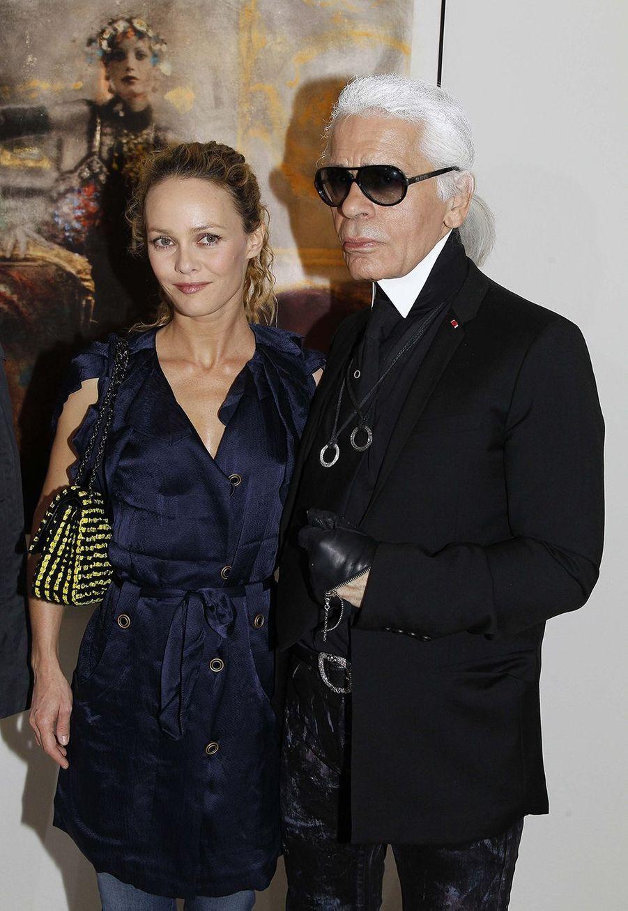 Vanessa Paradis et Karl Lagerfeld en 2010
