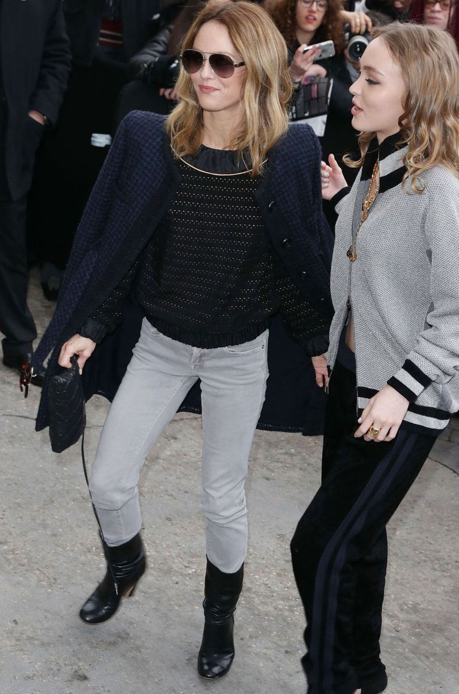 Vanessa Paradis et Lily-Rose Depp.