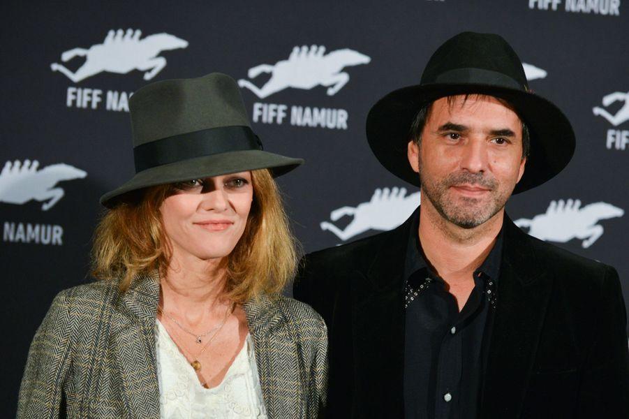 Vanessa Paradis et Samuel Benchetrit au Festival international du film francophone de Nemur, le 4 octobre 2017.