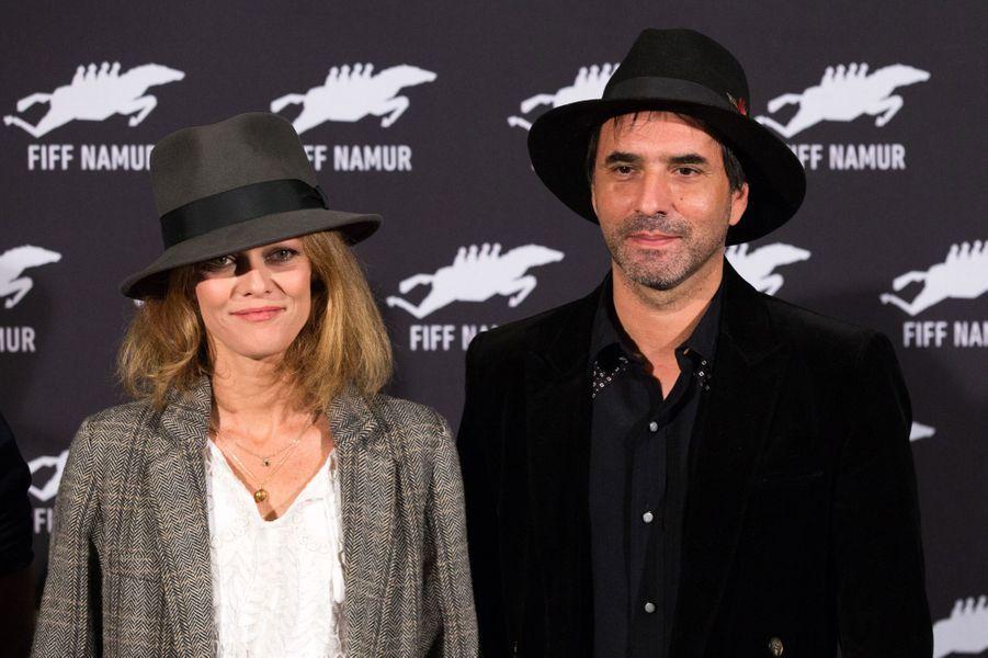 """Vanessa Paradis et Samuel Benchetrit à l'avant-première de """"Chien"""", en Belgique le 4 octobre 2017."""