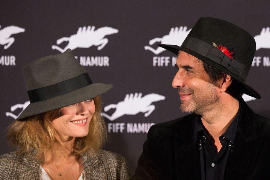 Vanessa Paradis et Samuel Benchetrit à Nemur, le 4 octobre 2017.