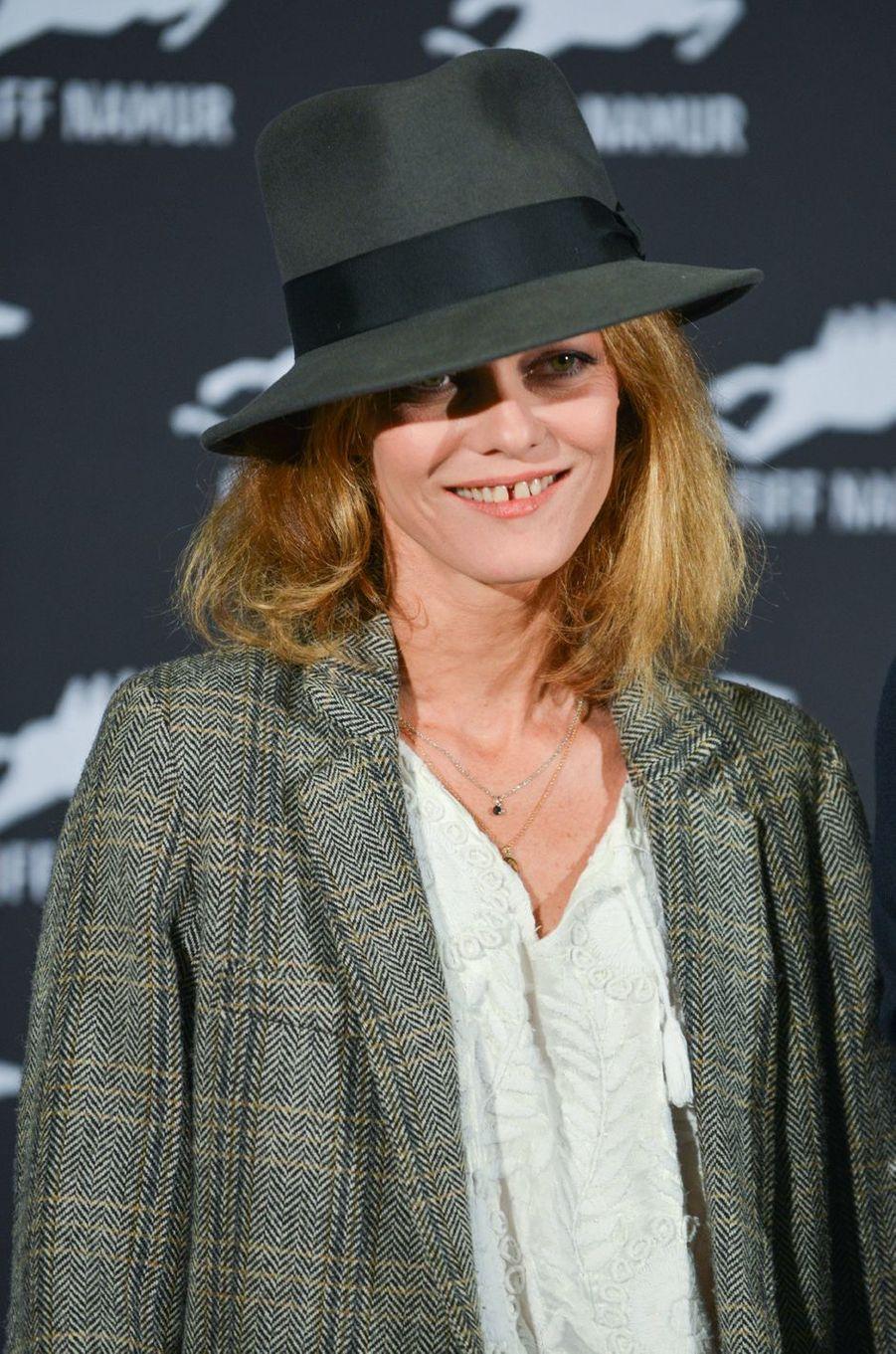 Vanessa Paradis au Festival international du film francophone de Nemur, le 4 octobre 2017.