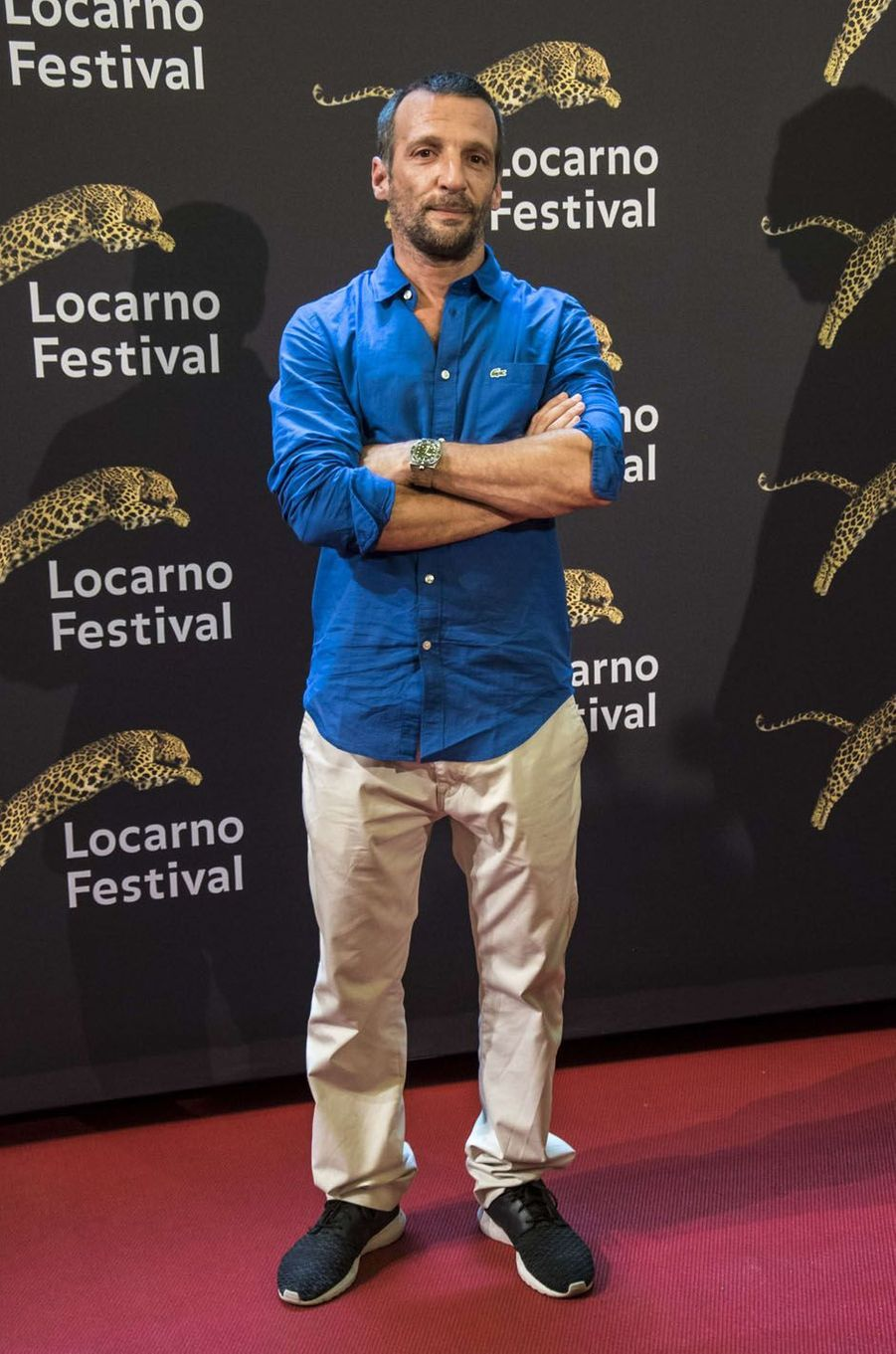 Mathieu Kassovitzau festival de Loncarno, le 4 août 2017.