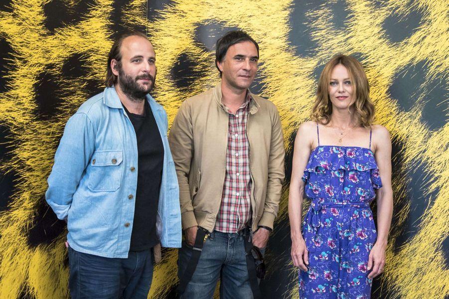 Vanessa Paradis, Vincent Macaigne et Samuel Benchetritau festival de Loncarno, le 7 août 2017.