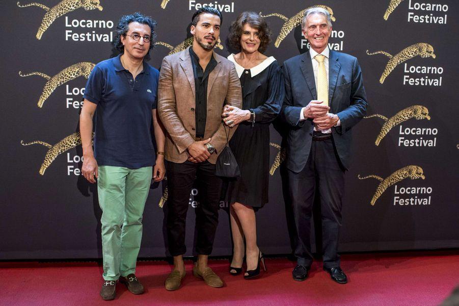 Nadir Moknèche, Tewfik Jallab, Fanny Ardant et Marco Solariau festival de Loncarno, le 3 août 2017.