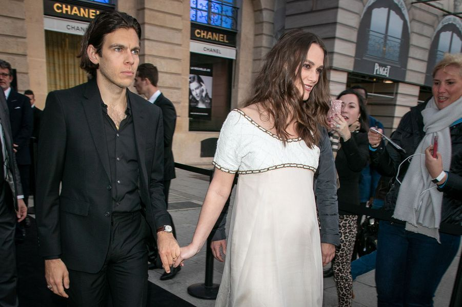 Keira Knightley et son mari James Righton à Paris, le 2 mai 2019