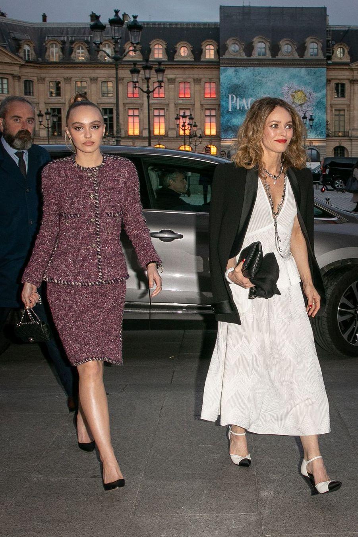 Vanessa Paradis et Lily-Rose Depp à Paris, le 2 mai 2019