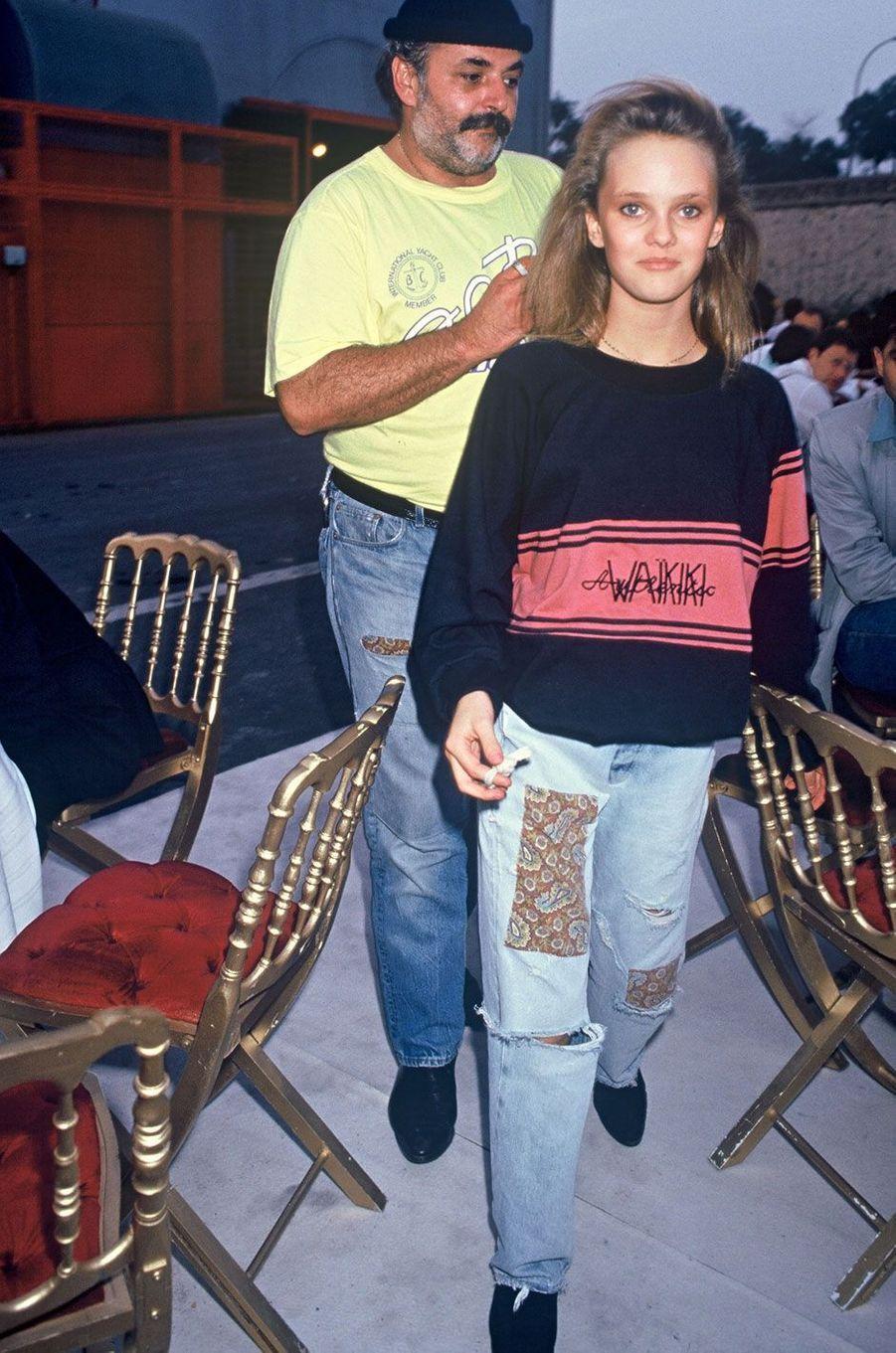 Vanessa Paradis à une soirée pour les 40 ans de Paris Match en 1987
