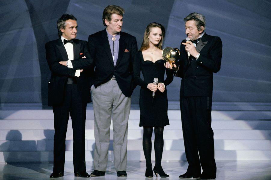 Vanessa Paradis, Serge Gainsbourg, Eddy Mitchell et Michel Sardou