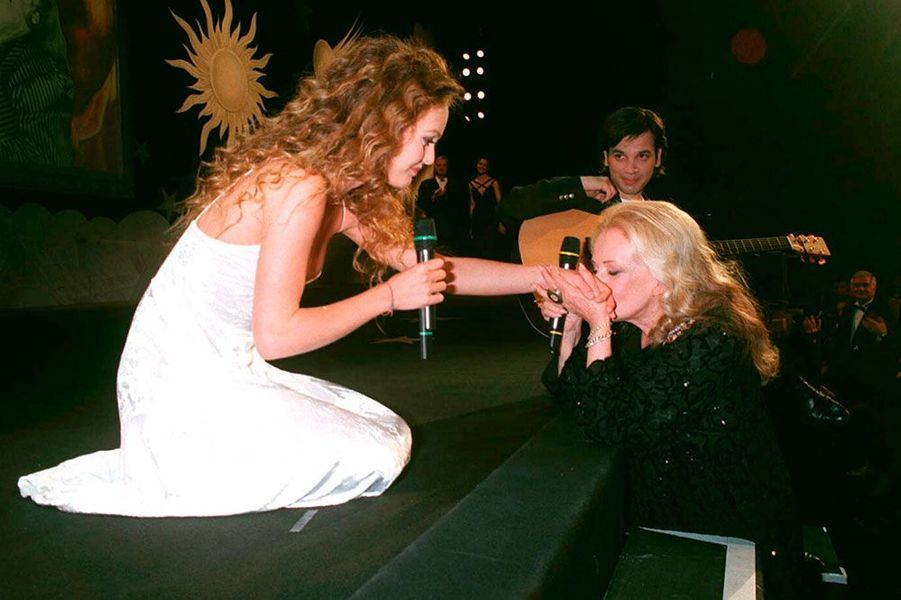 Vanessa Paradis et Jeanne Moreau en 1995.