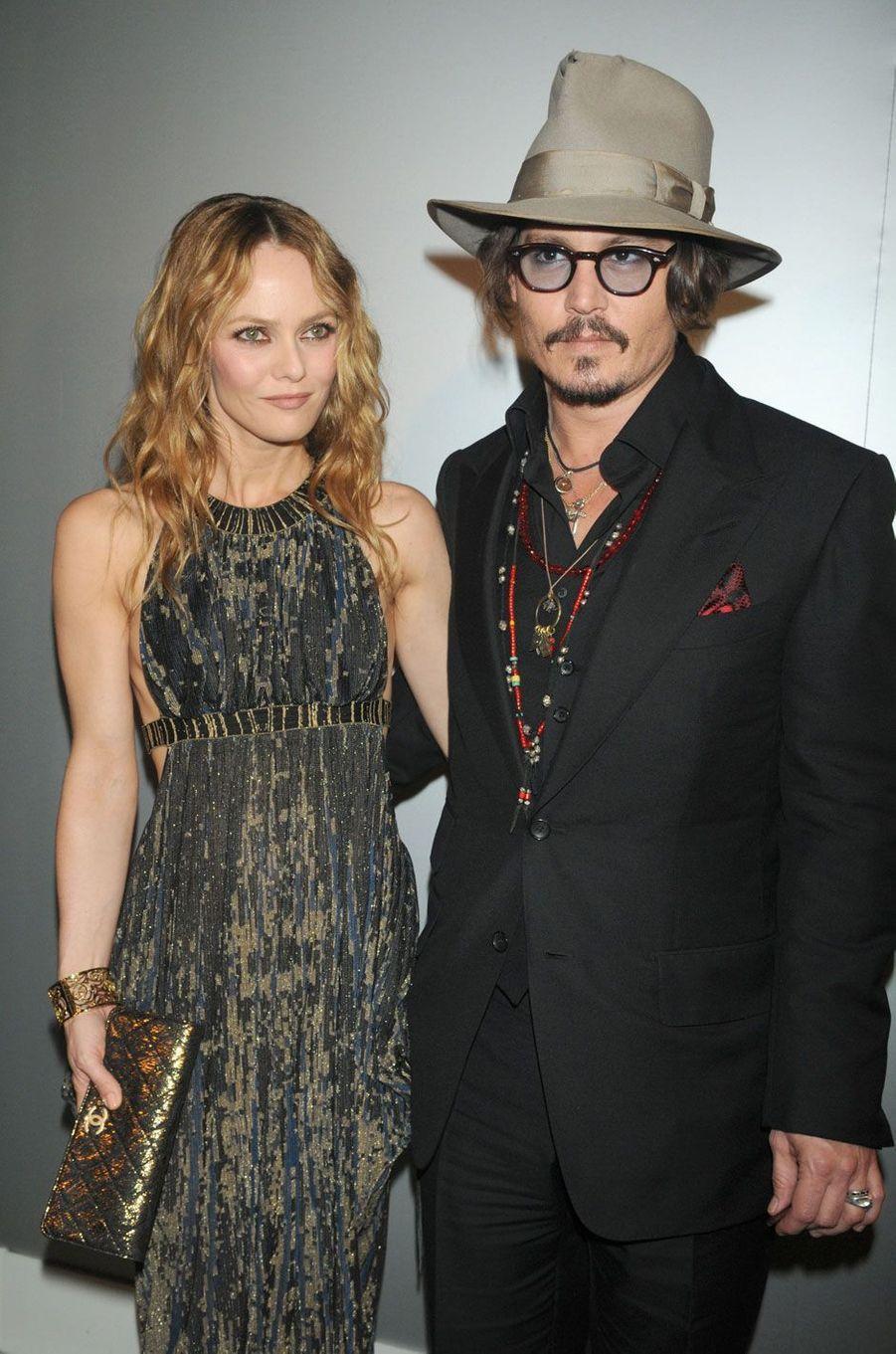 Johnny Depp et Vanessa Paradis à Cannes.
