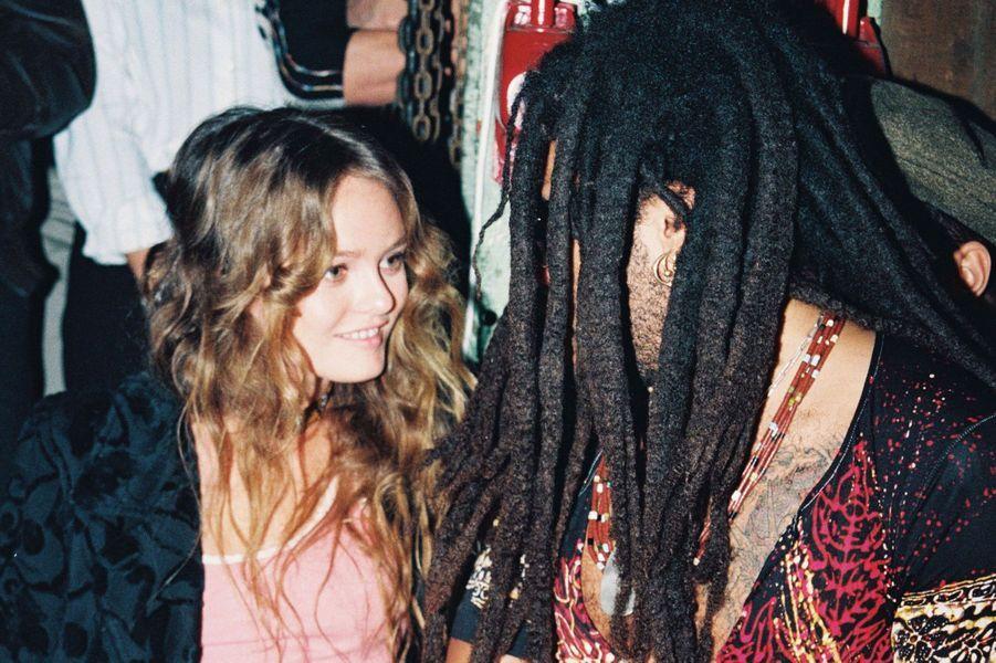Lenny Kravitz et Vanessa Paradis en 1995