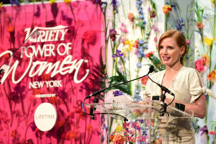 Jessica Chastain à New York.