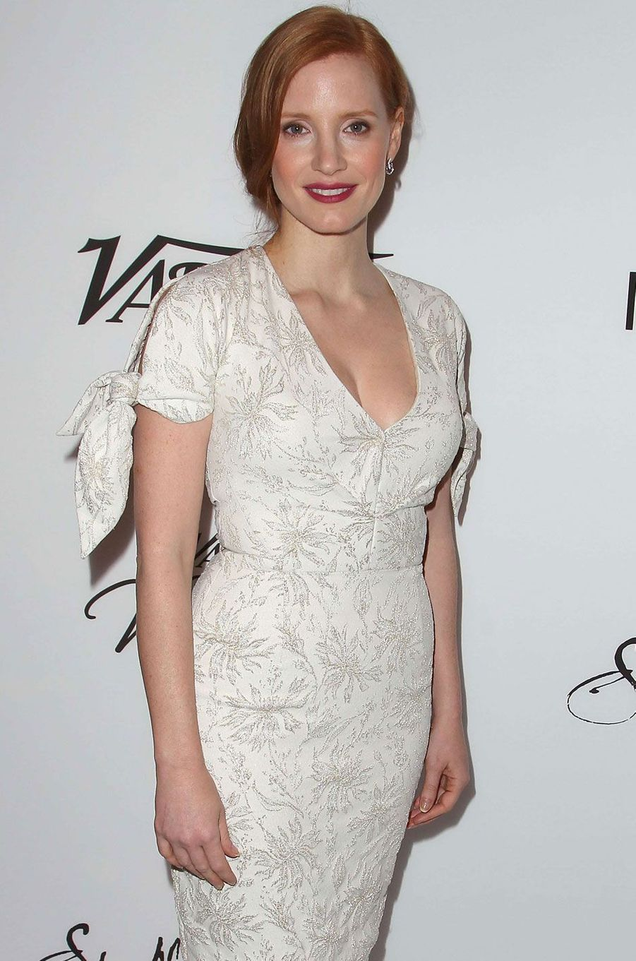 Jessica Chastain ravissante en robe blanche.