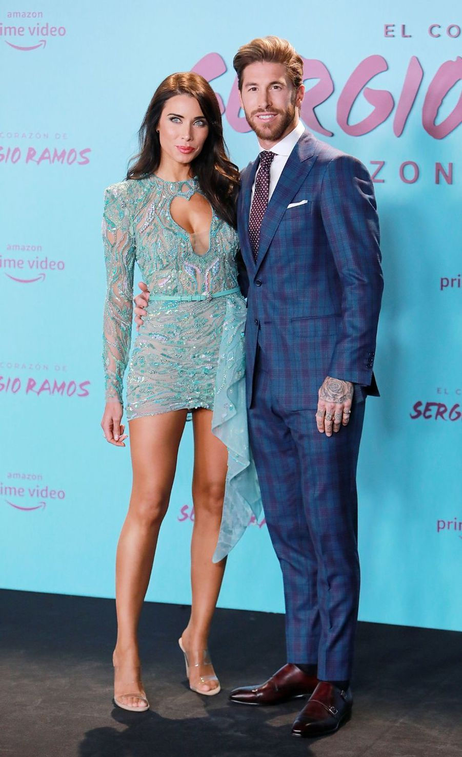 Sergio Ramos et son épouse Pilar Rubio à la première de«El Corazon de Sergio Ramos», à Madrid
