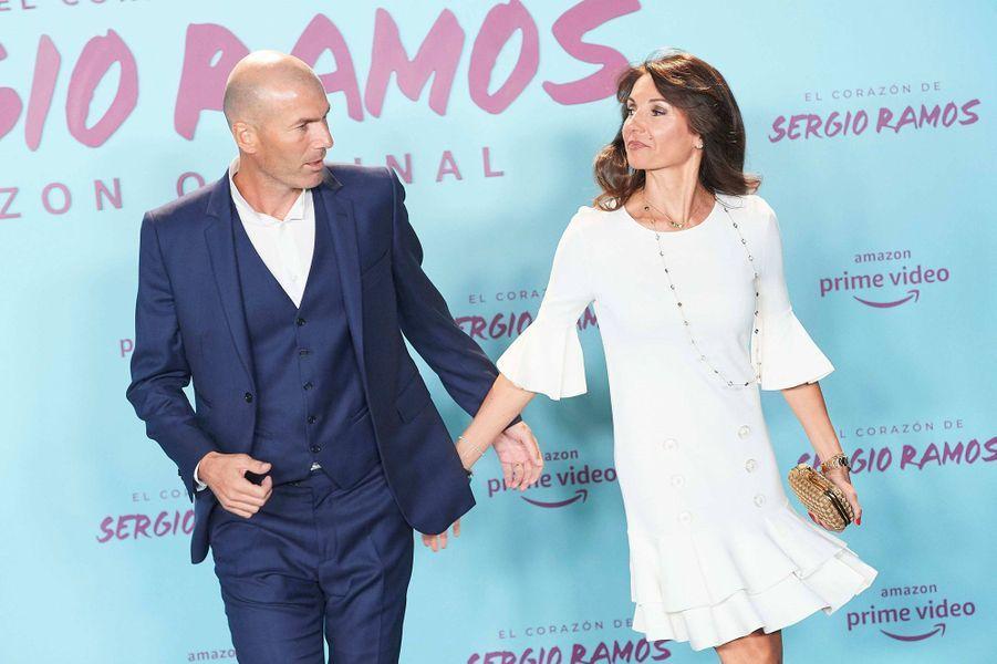 Véronique et Zinédine Zidane à la première de«El Corazon de Sergio Ramos», à Madrid